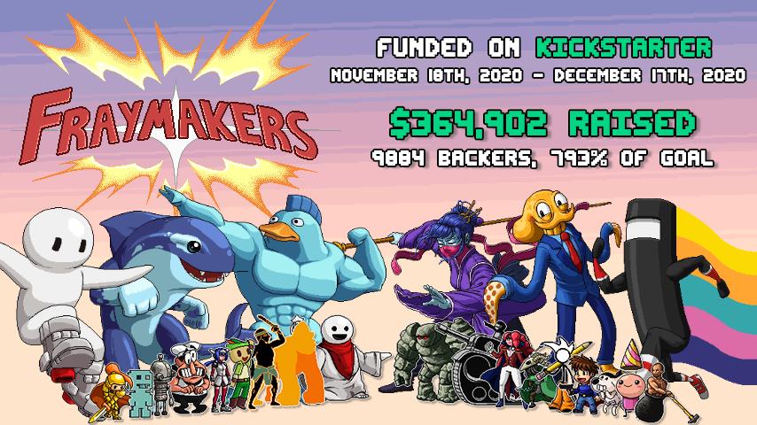 Fraymakers Funded on Kickstarter